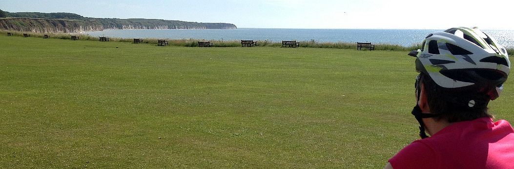 Blick nach Norden am North Beach von Bridlington