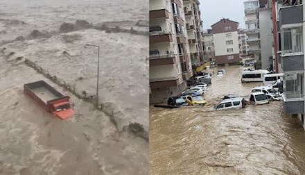 Ανατολική Τουρκία : Πάνω από 150 χιλιοστά βροχής έπεσαν μέσα σε μόλις 12 ώρες