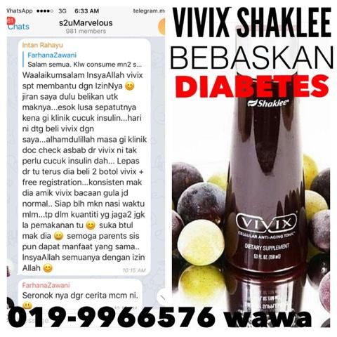 Mak Bebas Diabetes Dengan Vivix Shaklee