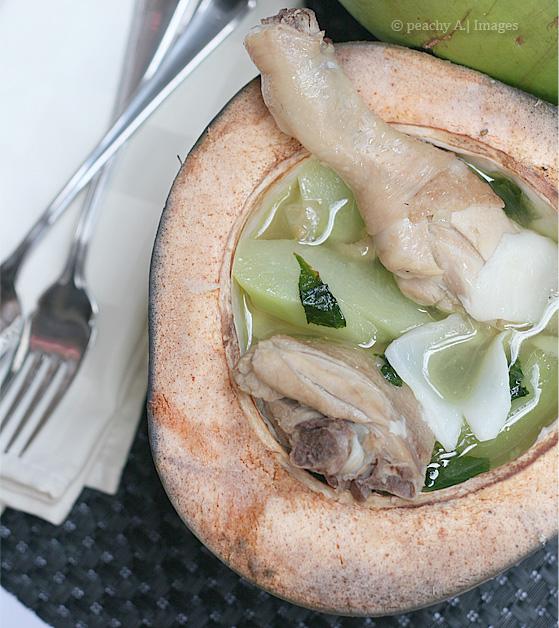 Chicken Binakol ~ Chicken in Coconut Soup   www.thepeachkitchen.com