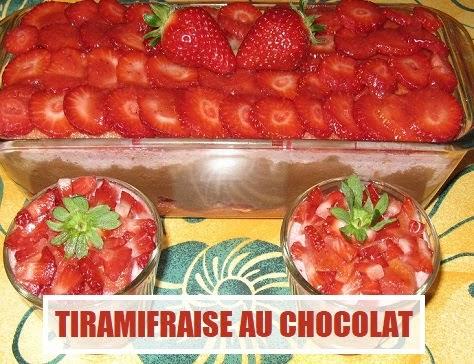 Tiramifraise au chocolat