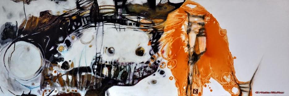 pintura de katia muñoz en técnica mixta,vernix exilio