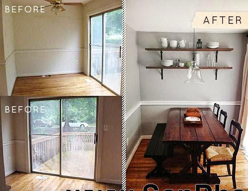 Thi công nội thất đồ gỗ: Cải tạo khoảng trống thành phòng ăn với giá 8 triệu đồng-8