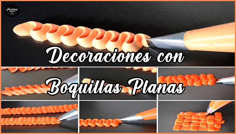 decoraciones con manga pastelera