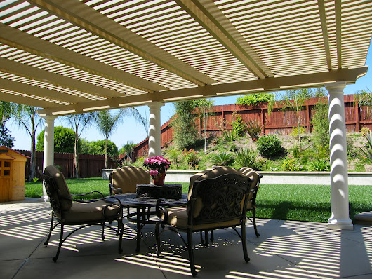 Nice Alumawood Laguna lattice patio cover in Mission Viejo California