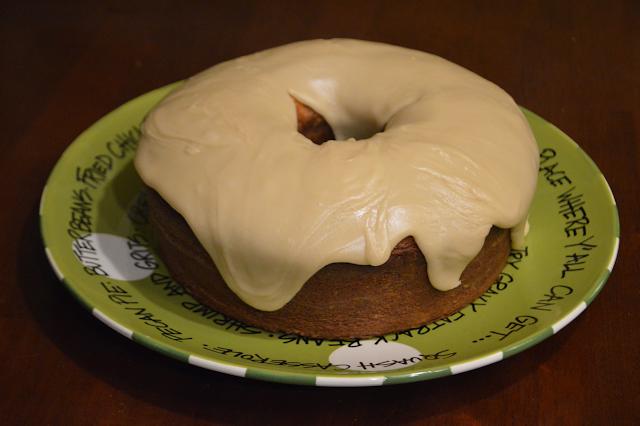 Brown Sugar Caramel Glazed Pound Cake