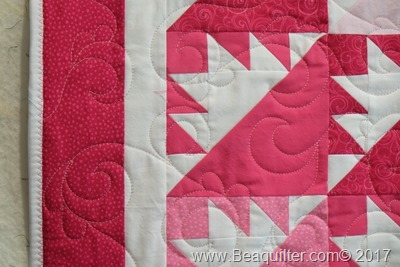 pink girl QUBE quilt long arm quilting