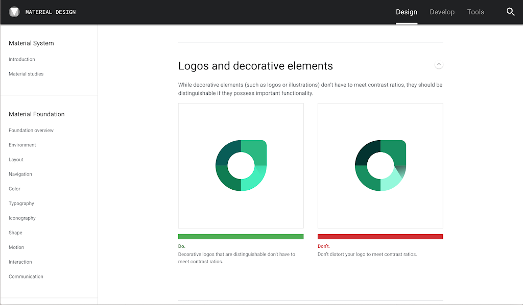 Material Design accessibility tool