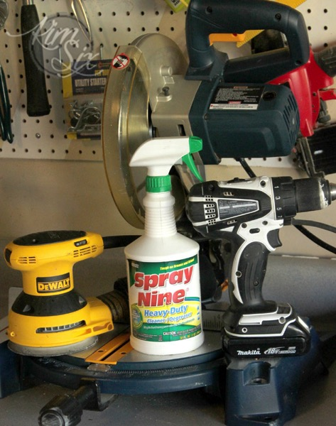 Cleaning power tools