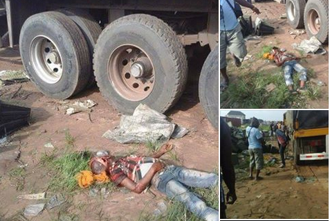 Tension In Aba As Truck Driven By Hausa Man Crushes Boy To Death (Graphic Photos)