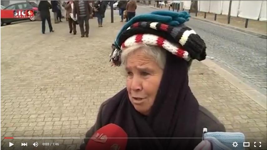 """Reportagem SIC - Vendas """"congeladas"""" em Lamego apesar do frio"""