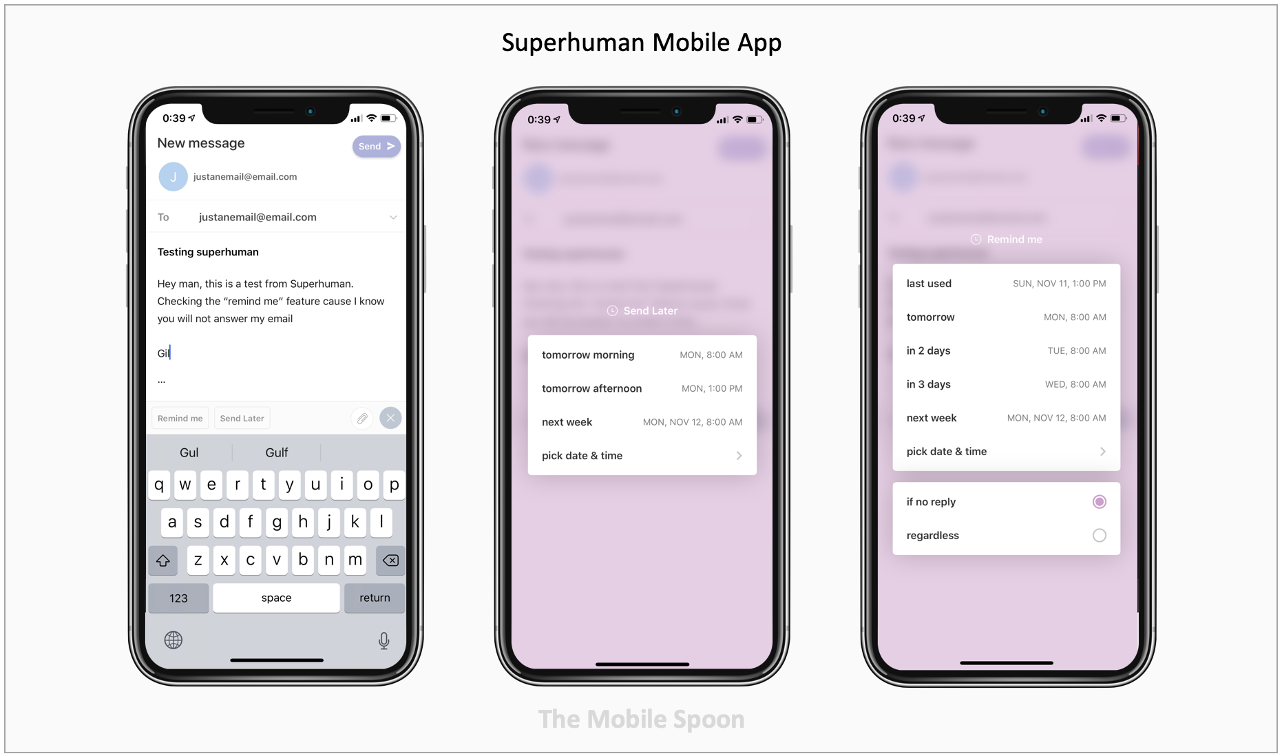 Superhuman email mobile app