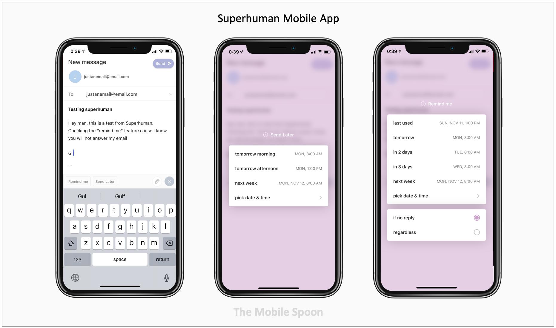 Superhuman email mobile app