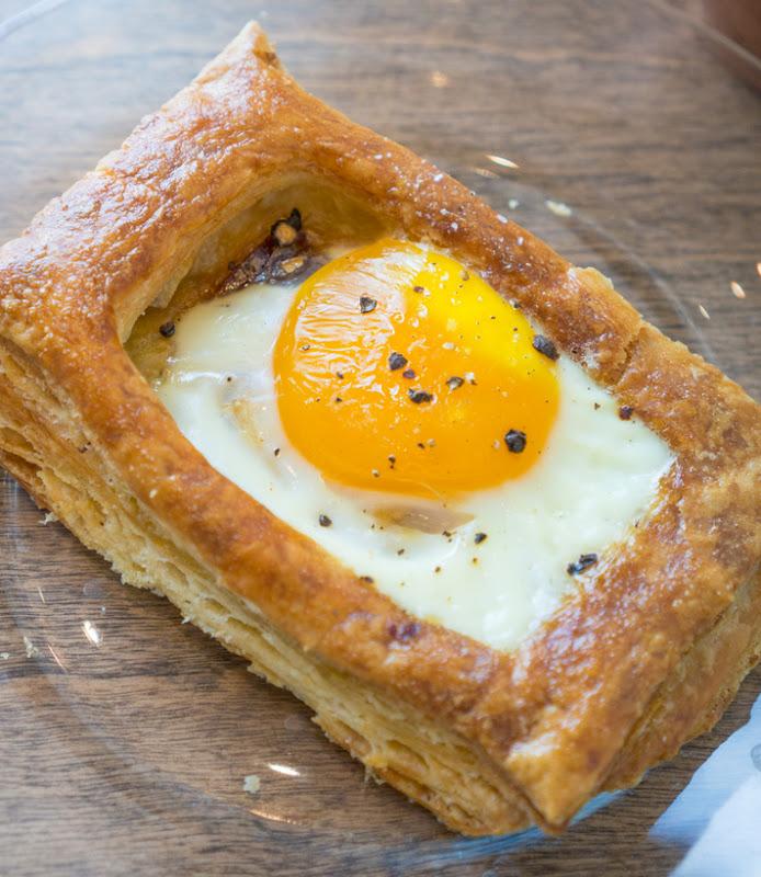 close-up photo of Egg, Prosciutto & Gruyere Tart