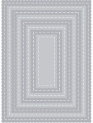 rectangle scallop stitched tutti