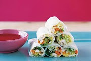 Vietnamese style Chicken and Mango Rice Paper Rolls
