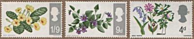 wild flower stamps from UK