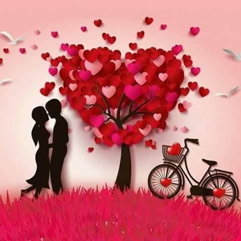 couple under tree loving image