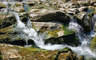 Gunzesrieder Ache Blaichach Kaskaden Wasserfall Nagelfluhgestein Allgäu