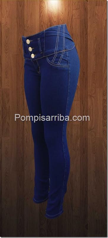 Pantalon azul marino pretina ancha