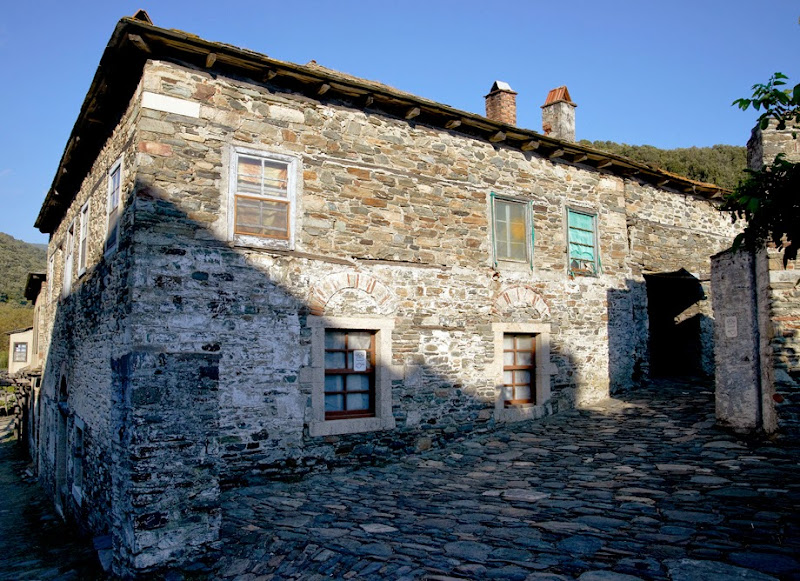 31. Holy Monastery of Iviron. Old stone house