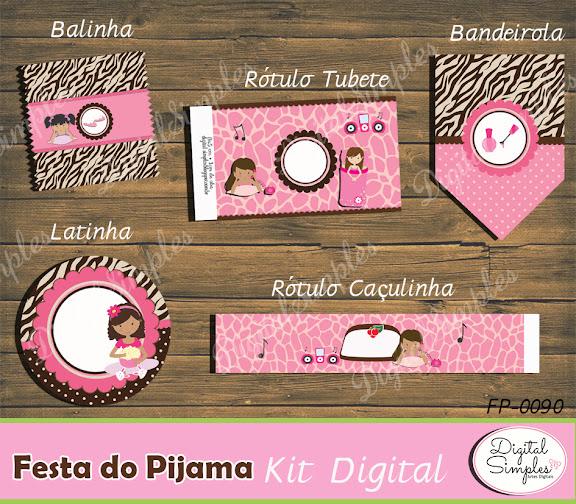 Kit Digital Festa do Pijama.....artesdigitalsimples@gmail.com