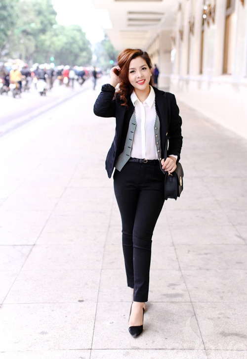 Hinh anh: So mi trang cung voi vest thanh lich