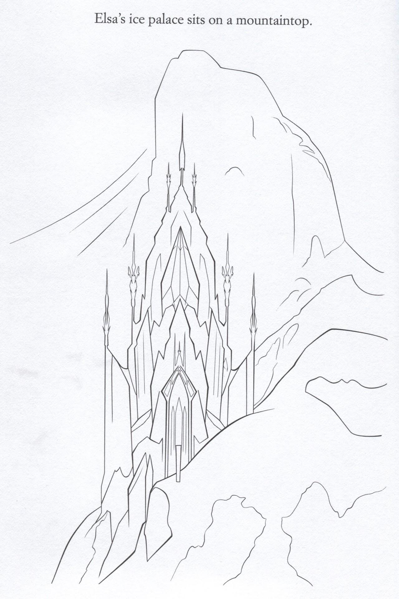 Hd Elsa Castle Frozen Coloring Pages Drawing