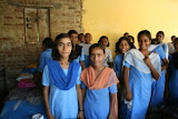 High school girls at Amarpurkashi