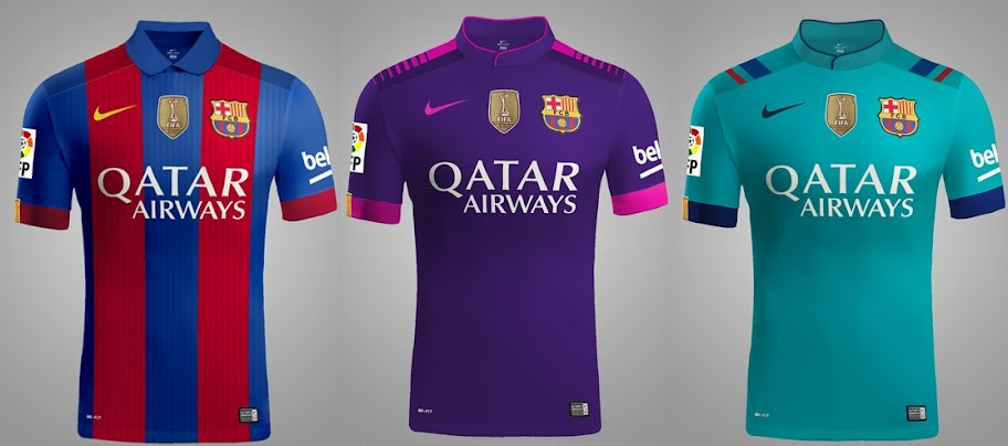 nike ardila chanson - All 3 New FC Barcelona 2016-17 Kits (Leaked)