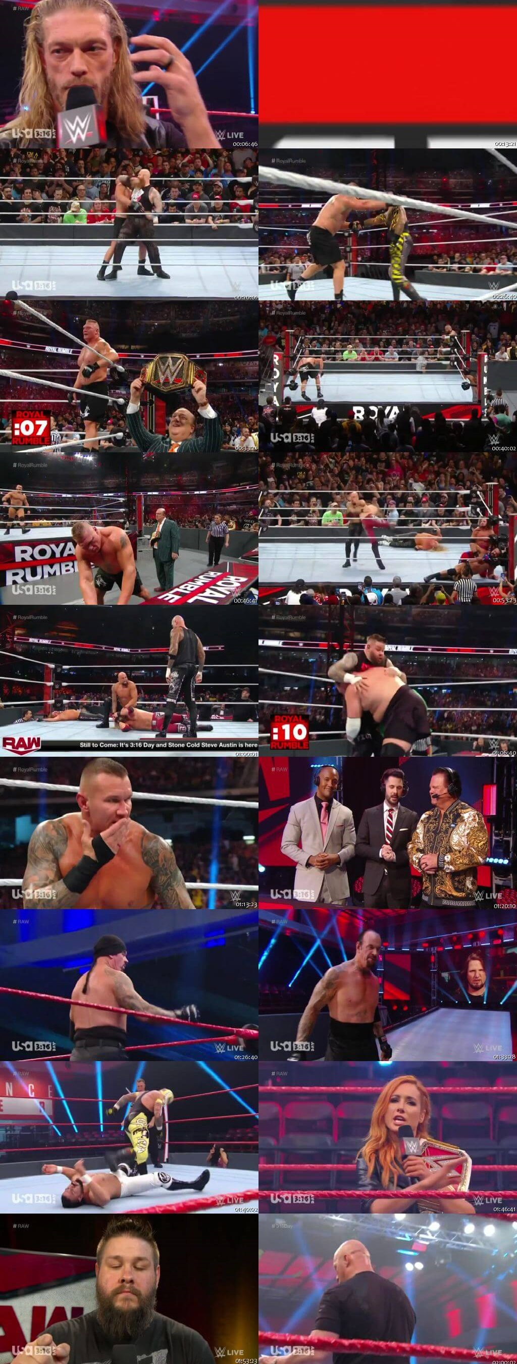 Screen Shot Of Wrestling TV Show WWE Monday Night Raw 16th March Watch Online Free Download