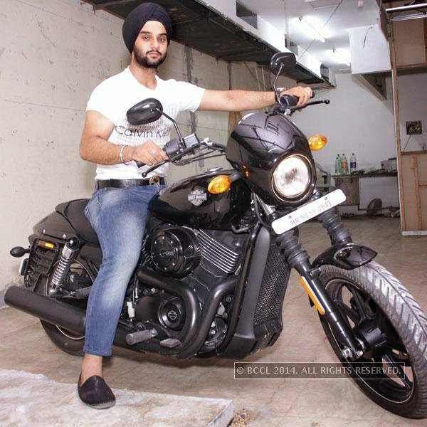 Gagandeep Singh during bikers' night at AMPM Cafe & Bar, in Delhi.