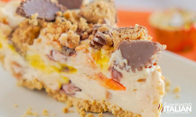 no bake cheesecake slice