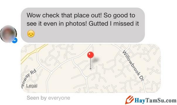 Hiển thị hoặc ẩn địa điểm hiện tại trên Facebook Messenger