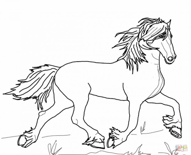 Jumping Horse With Rider Coloring Page Free Printable Coloring Pages  Intended For Stylish Horse