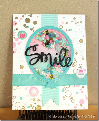 smile balloon card