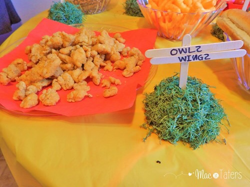 Winnie the Pooh Birthday Party Food Ideas: Owl's Wings