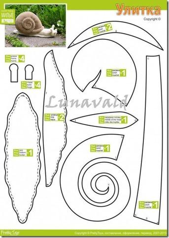 caracol moldes manualidades (1)