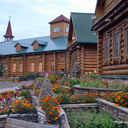 A recreated Tatar complex in Kazan