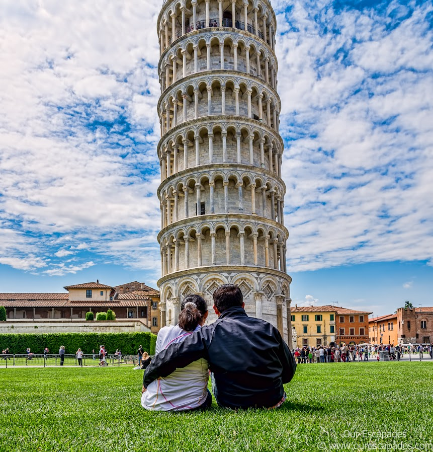 Gazing at the Leaning Tower of Pisa