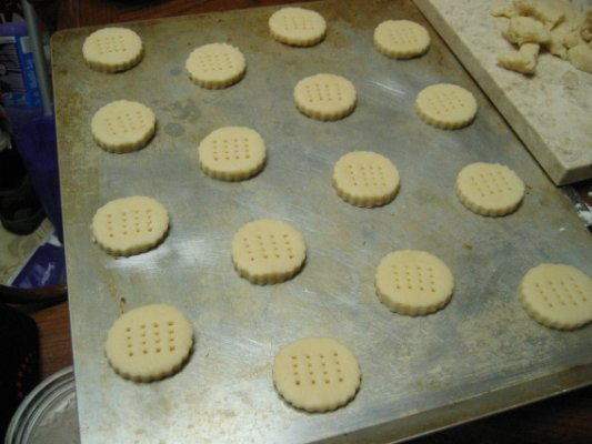 place on ungreased baking sheet - this cookie does not spread a lot, but stil should leave some room between each cookies