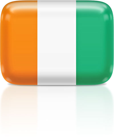 Ivorian flag clipart rectangular