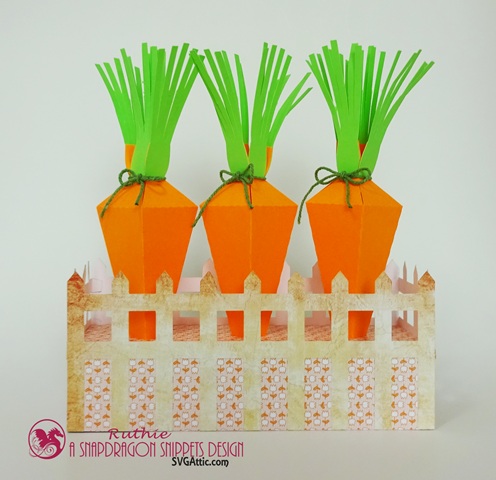 SnapDragon Snippets, Carrot 4 box with fence, Ruthie Lopez