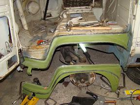 Front Wheel Arch Repair (Dog Legs)