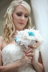 Burlap and Lace Wedding Bouquet