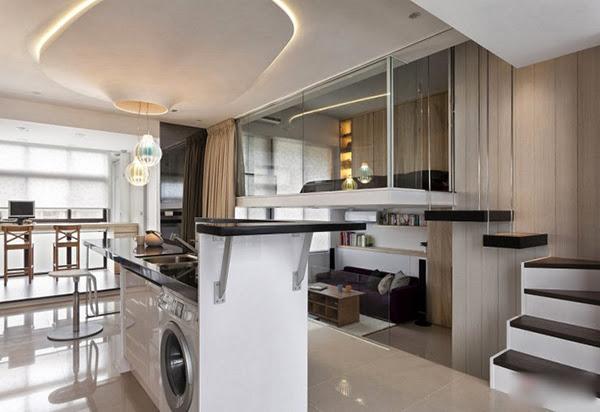 Phân vùng không gian cho căn hộ tối giản