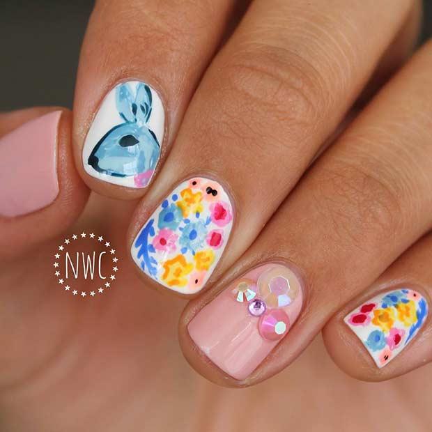 24+ Elegant Easter Nail Art Designs for Spring - Nails C