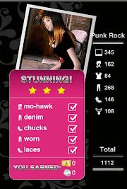 Style Me Girl  Level 12 - Punk Rock - Joyce - Stunning! Three Stars