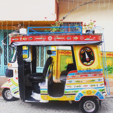 Colourful tuk tuk