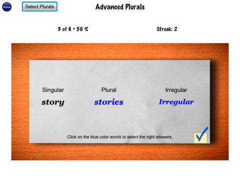Irregular Plurals Advanced
